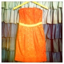 McGinn Orange Dahlia Dress