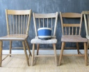 Collection of Mismatched Vintage Chairs, Three Potato Four, $295