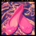 Hot Pink Jelly Flats, J. Crew, $68