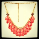Coral Drop Necklace, Francesca's Collections, $28