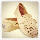 TOMS Neutral Crochet Slip-Ons, $57.95