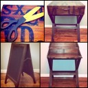 Home Goods Desk & Chalkboard