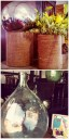 Burlap Wrapped Vases $34 (total DIY project!), Giant European Glass Jug $65