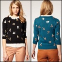 ASOS Sweater with Metallic Bird Print $48.18 // ASOS