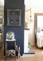 Chalkboard Wall via Pinterest via The Old Painted Cottage