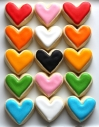 Bite Size Heart Sugar Cookies via Sugar Sanctuary on Etsy