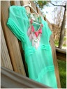 Mint Ethereal Blouse $22.50, Pink Triangle Necklace $24, Francesca's Collections