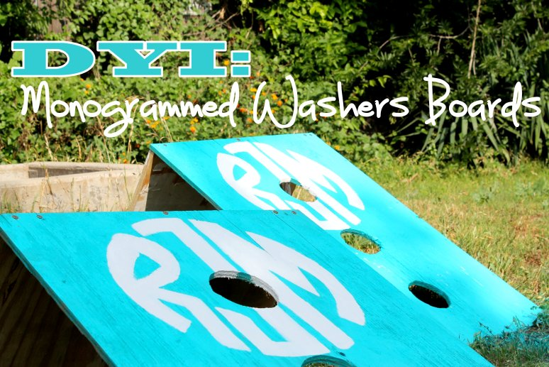 Summertime DIY: Monogrammed Washers Boards. . . .