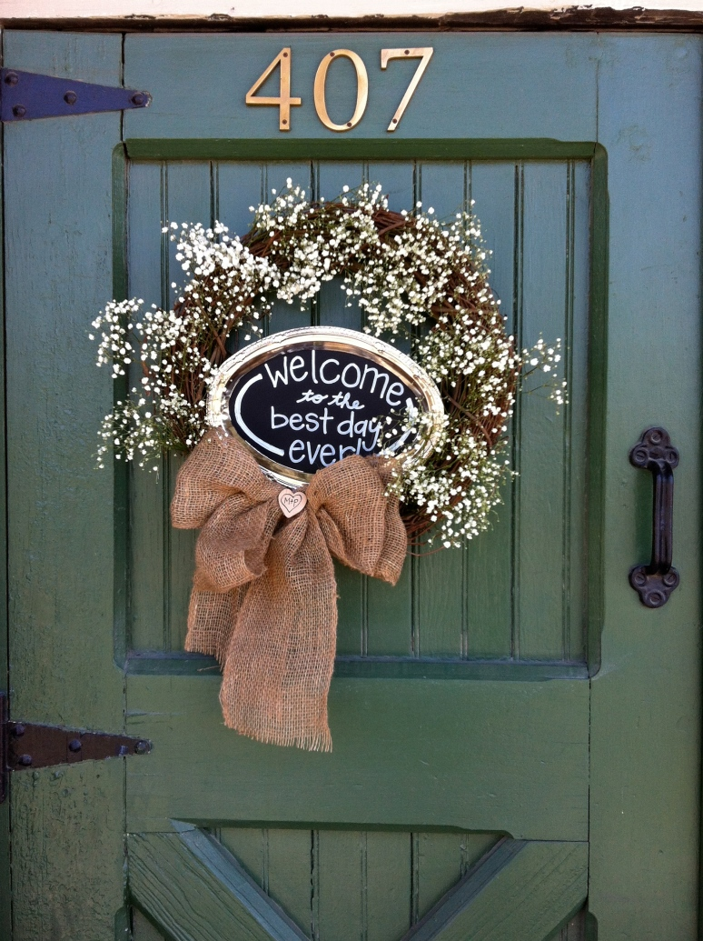 Baby's Breath Wreath at the Flour Mill, McKinney TX