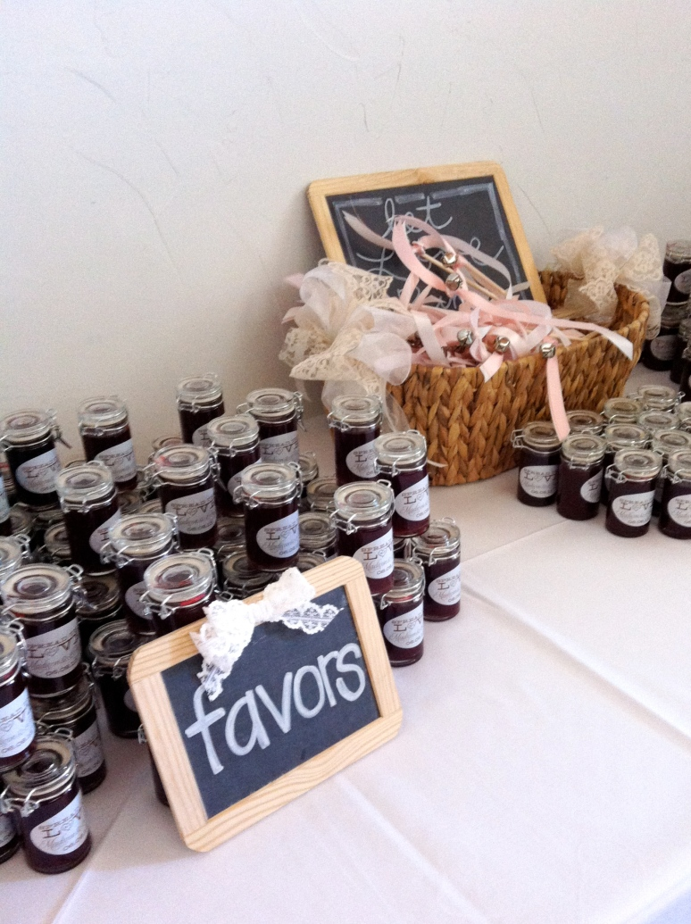 Favors at the Flour Mill Venue, McKinney TX